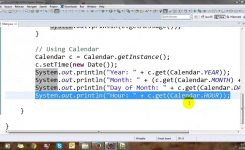 How To Get Month And Year From Calendar In Java Flash Design