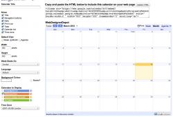 Free Html Calendar Widget