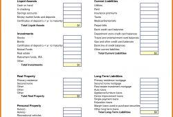 Microsoft Balance Sheet Template