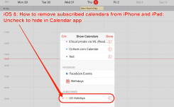 Ios How To Remove Subscribed Calendars From Iphone And Ipad