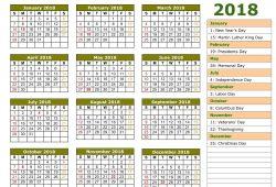 Islamic Calendar 2018 Usa