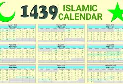 Islamic Calendar 2018 For Usa