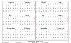 January 2018 Calendar Horizontal January 2018 Calendar