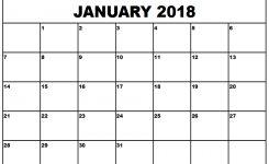 January 2018 Excel Calendar Northfourthwallco