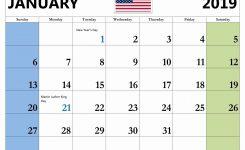 January 2019 Holiday Calendar Usa Templateprintable