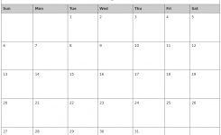 January 2019 Printable Calendar Printable Calendar Template