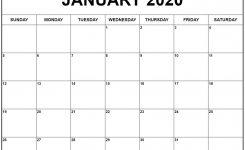 January 2020 Calendar 56 Templates Of 2020 Printable Calendars