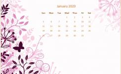 January 2020 Desktop Calendar Wallpaper Monthly Calendar Templates