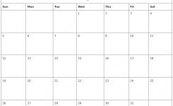 January 2020 Free Printable Monthly Calendar