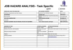 Job Hazard Analysis Form Template