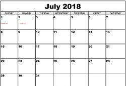 Free Downloadable Calendar Template 2018