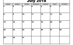 July 2018 Calendar Printable Template July Calendar 2018 July 2018