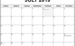 July 2019 Calendar With Holidays Printable Calendar