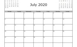 July 2020 Calendar Free Printable Allfreeprintable