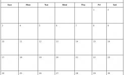 June 2018 Print Free Calendar