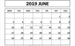 June 2019 Calendar Monday Start Images Editable 2019 Calendar