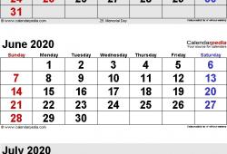 April May And June 2020 Calendar