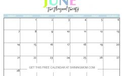 June 2020 Printable Calendar Free Printable 2020 Calendar So