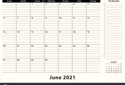 June 2021 Calendar and Notes