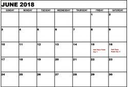 Free Calendar Template 2018 Nz