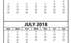 June July 2018 Calendar Shoot Design