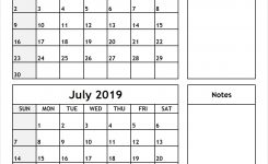June July 2019 Printable Calendar All 12 Month Calendar Printable