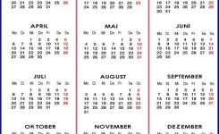 Kalender 2020 Zum Ausdrucken Als Pdf, Word, Excel