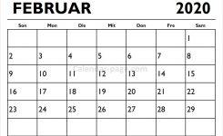 Kalender Februar 2020 Drucken Kalender 2020 Zum Ausdrucken