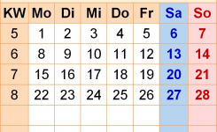 Kalender Februar 2021 Als Word-Vorlagen