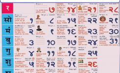 Kalnirnay January 2018 Marathi Calendar Online