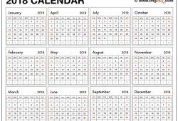 2018 Free Large Print Printable Calendar