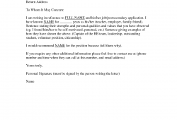 Reference Letter Template For Friend