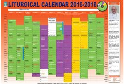 Liturgical Calendar Catholic Uk