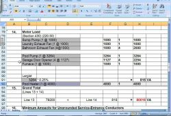 Residential  Electrical  Load  Calculator  Excel