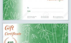 Luxury Spa Massage Gift Certificate Template With Hand Drawn