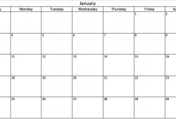 Free Legal Size Printable Calendar