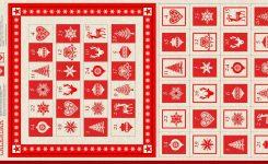 Makower Uk Scandi 4715 Scandi Advent Calendar Panel 1595 1