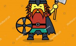 Man Viking Suit Leif Erikson Day Stock Vector Royalty Free
