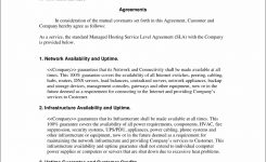 Managed Services Sla Managed Services Agreement Template Agreement For
