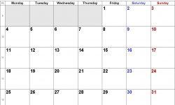 Blank Printable September 2019 Calendar Week Numbers