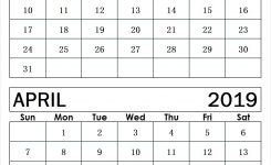 March April 2019 Calendar Template 2019 Calendar Printable