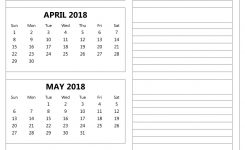 March April May June 2018 Calendar 4 Monthly Template In Ms Excel