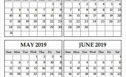 March To June 2019 Print Calendar Four Month Calendar Mar Jun 2019