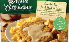 Marie Callenders Frozen Dinner Country Fried Beef Steak Gravy