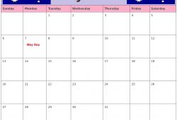 May 2018 Calendar Australia With Holidays