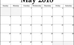 May 2018 Calendar May 2018 Calendar Printable Pinterest