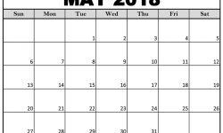 May 2018 Calendar 2