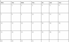 May 2018 Waterproof Calendar 2018 Calendar Printable