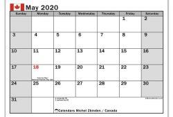May Calendar 2020