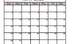 May 2020 Calendar Printable | May Blank Calendar Template